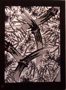 Japanese katagami stencil-Katina Huston
