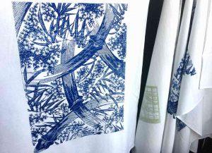 Katagami fabric print